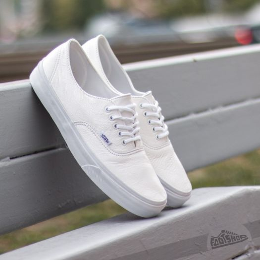 vans authentic white leather