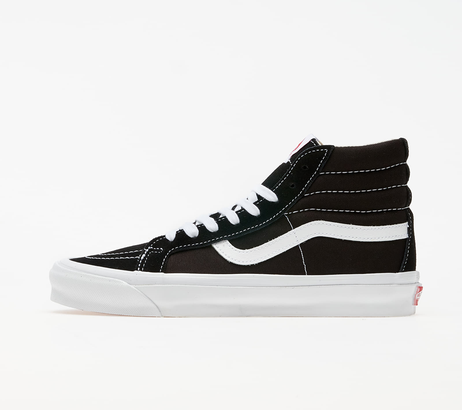 Vans Vault OG Sk8-Hi LX (Suede/ Canvas) Black/ True White EUR 36