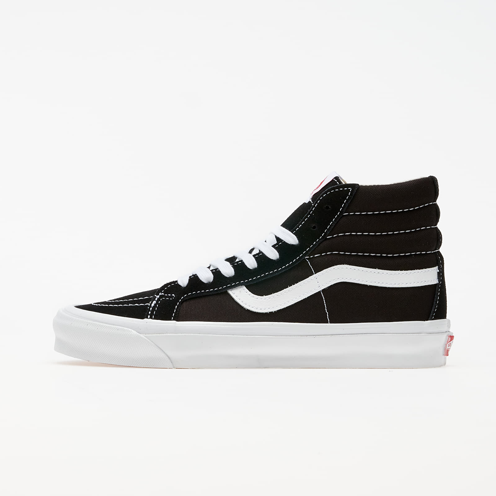 Férfi cipők Vans OG Sk8-Hi LX (Suede/ Canvas) Black/ True White