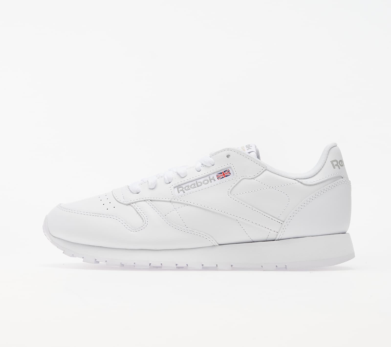 Reebok Classic Leather White/ White/ Light Grey EUR 41