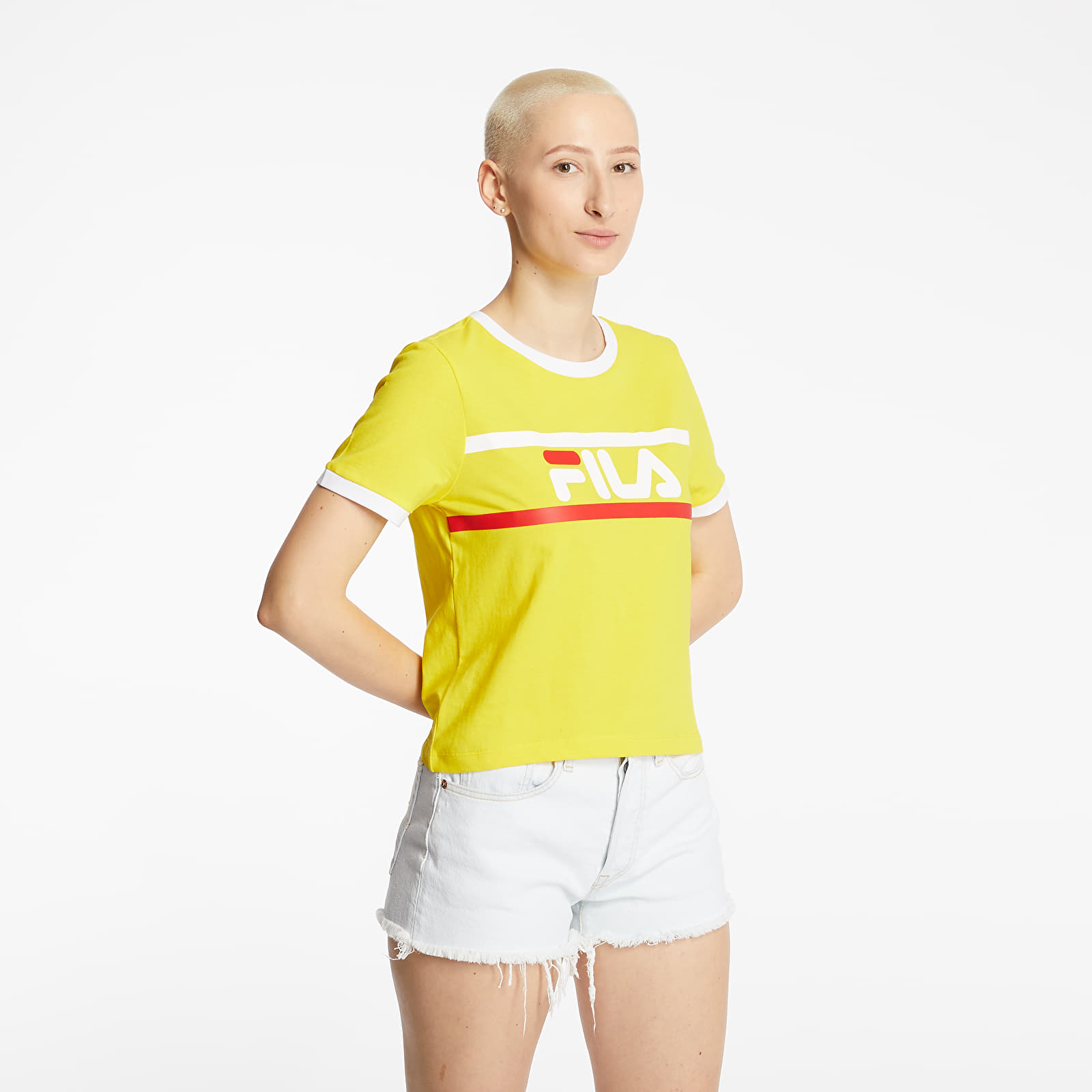 Μπλούζες Fila Ashley Cropped Tee Empire Yellow