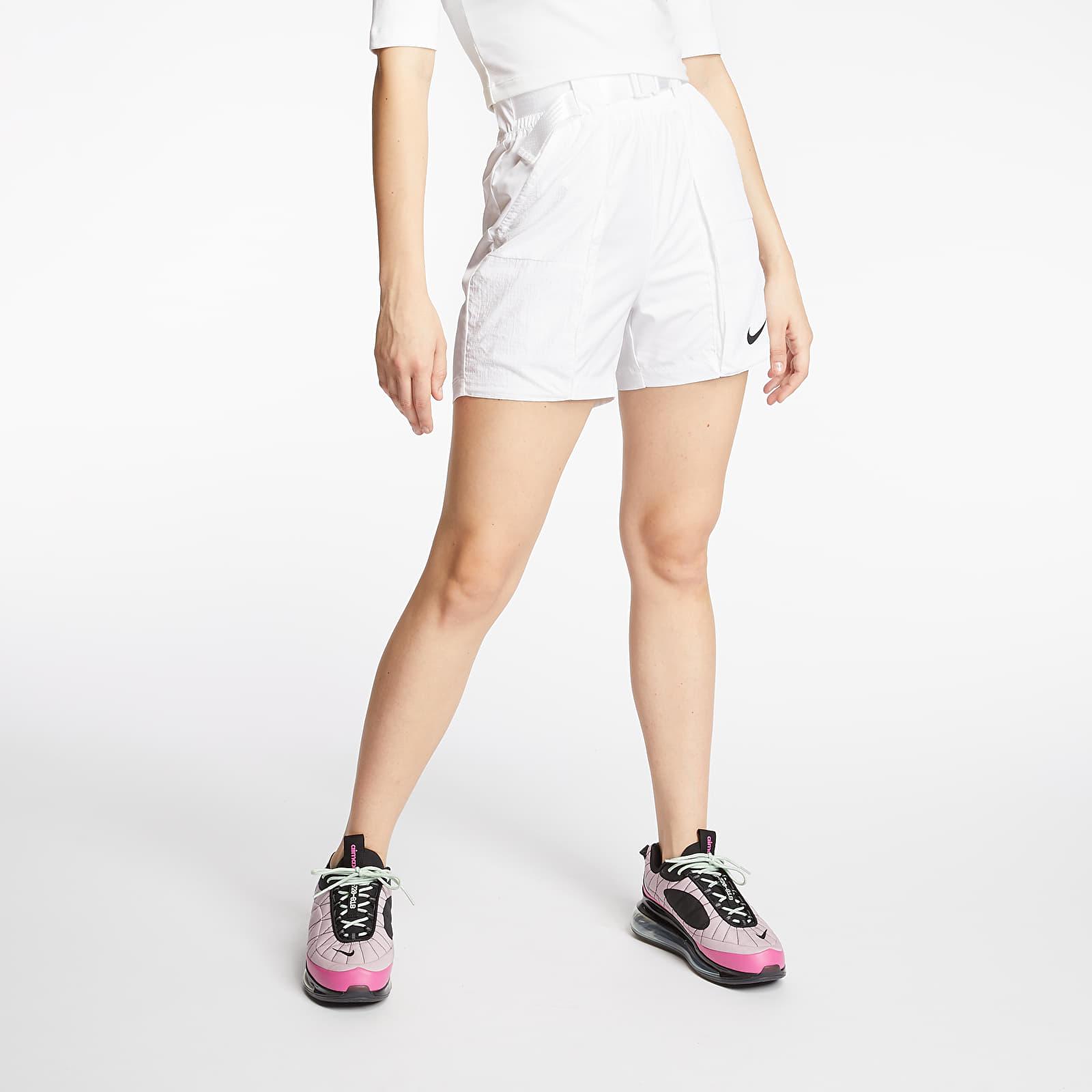 Šortky Nike Sportswear Swoosh Woven Shorts White/ Black