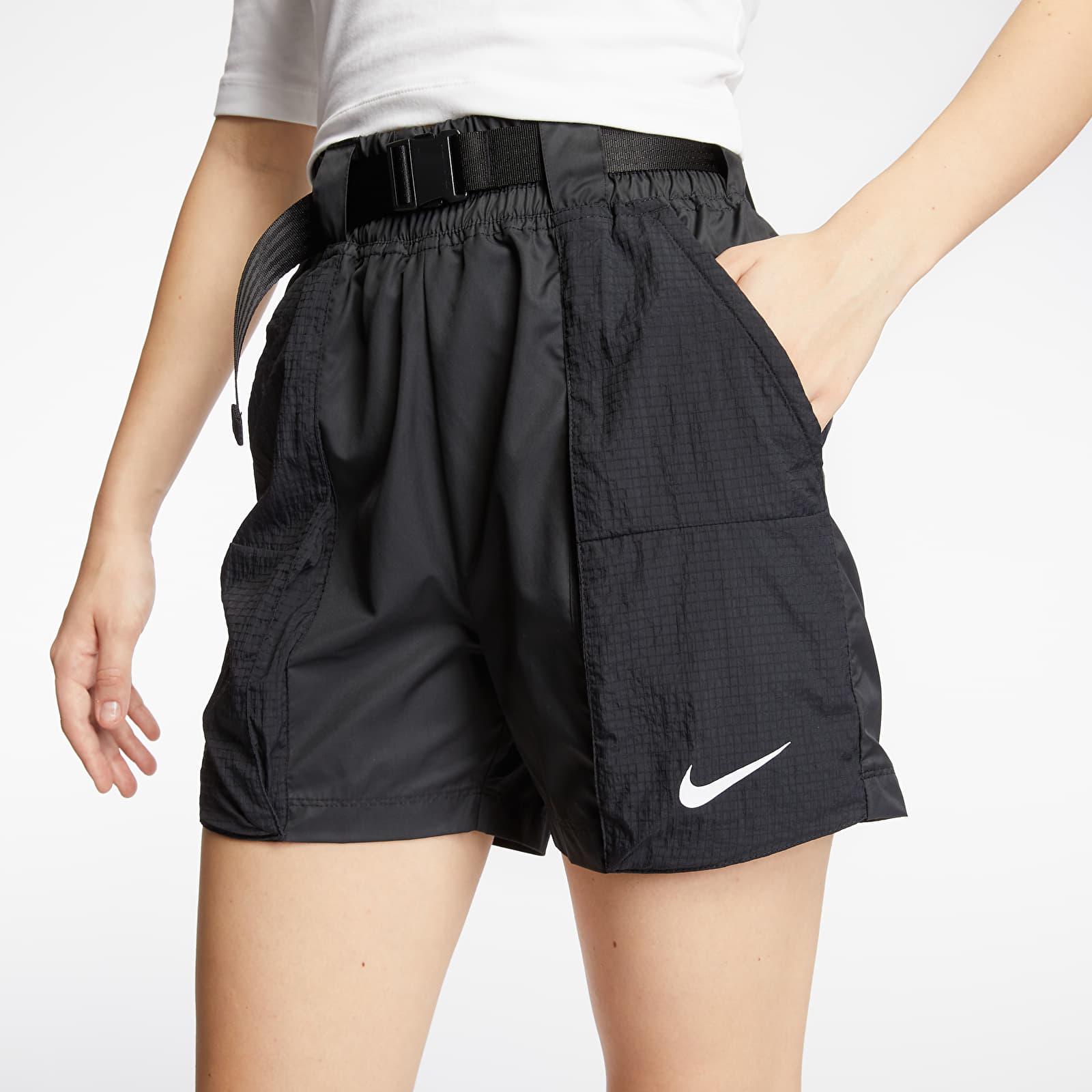 Šortky Nike Sportswear Swoosh Woven Shorts Black/ White