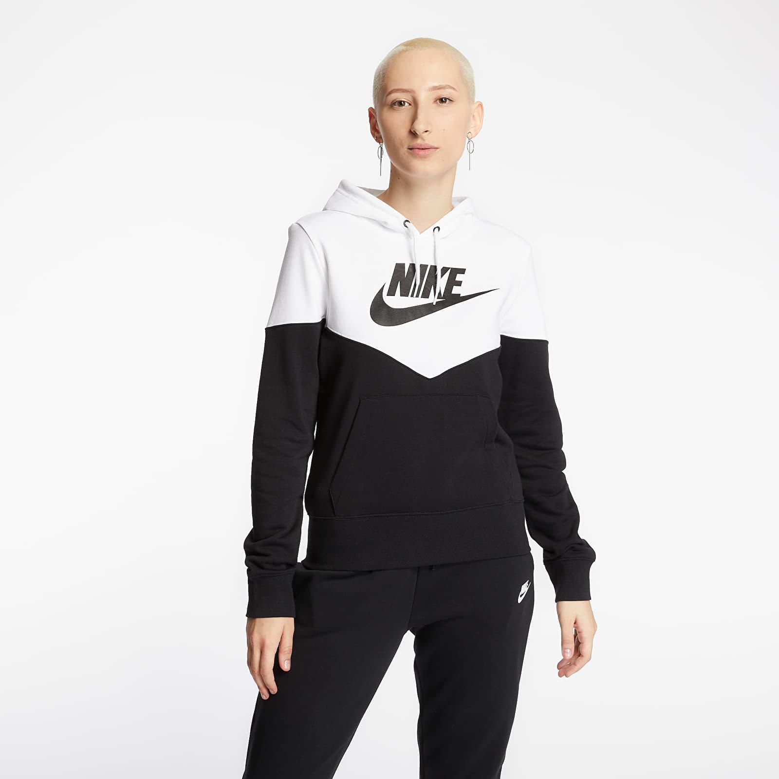 Mikiny a svetry Nike Sportswear Heritage Hoodie Black/ White/ Black