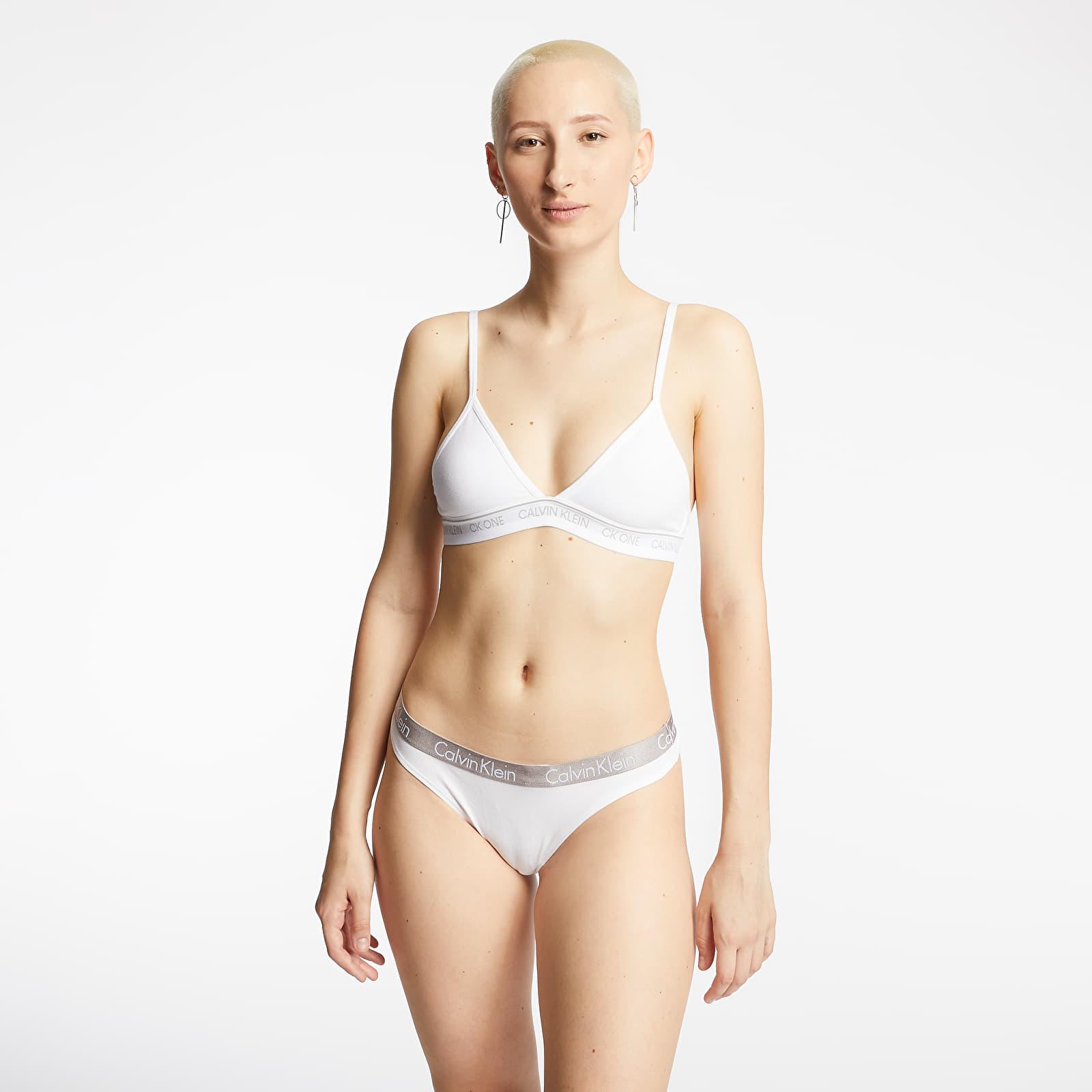 Women's underwear Calvin Klein 3Pack Thong Chrome/ Shoreline/ White
