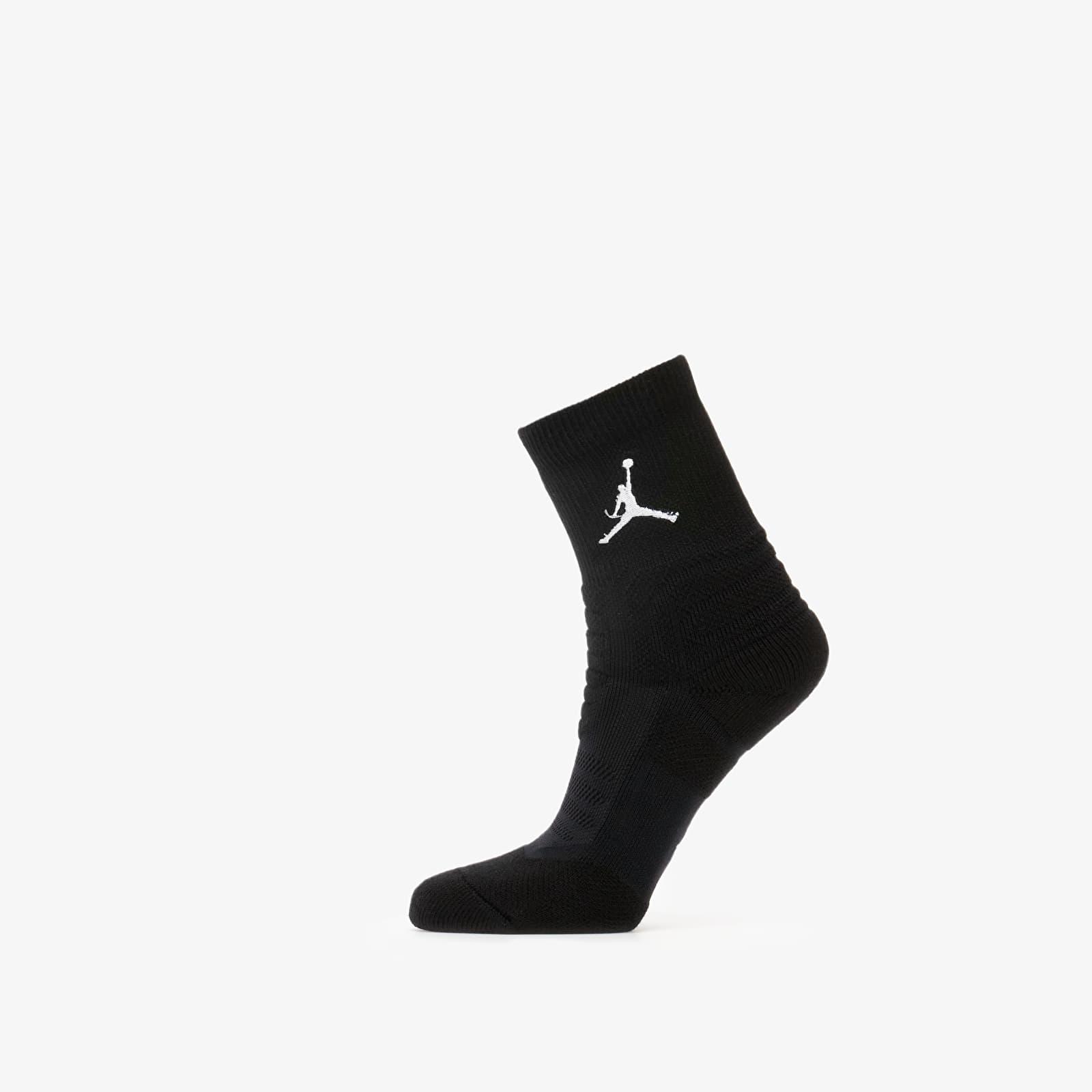 Ponožky Jordan Flight Ankle Socks Black/ White
