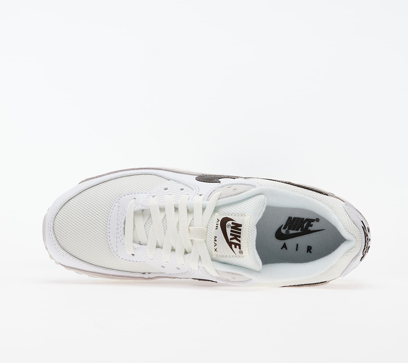 Nike Air Max 90 White/ Baroque Brown-Sail-Vast Grey