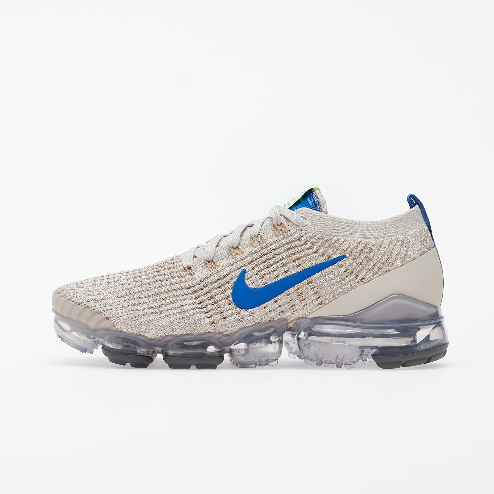 Pánske tenisky a topánky Nike Air Vapormax Flyknit 3 Light Bone/ Game Royal-Khaki-String