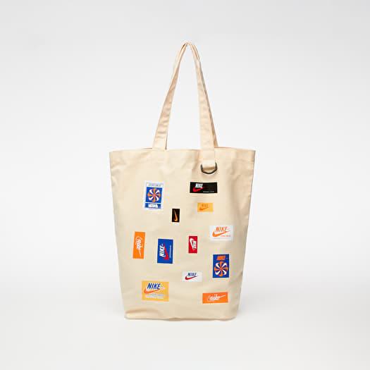 cuenca Pigmalión sello  Mochilas y bolsas Nike Heritage Just Do It Tote Bag Natural/ Natural/  Safety Orange