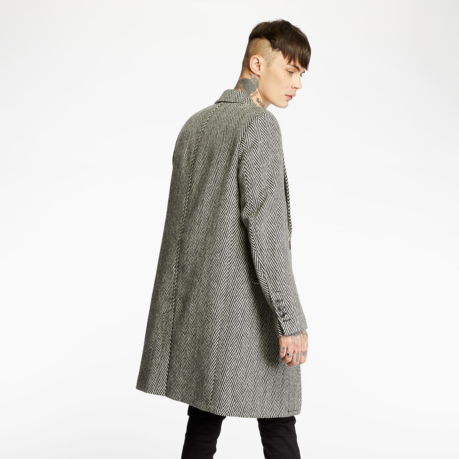 Coats AMI Alexandre Mattiussi Coat White/ Black