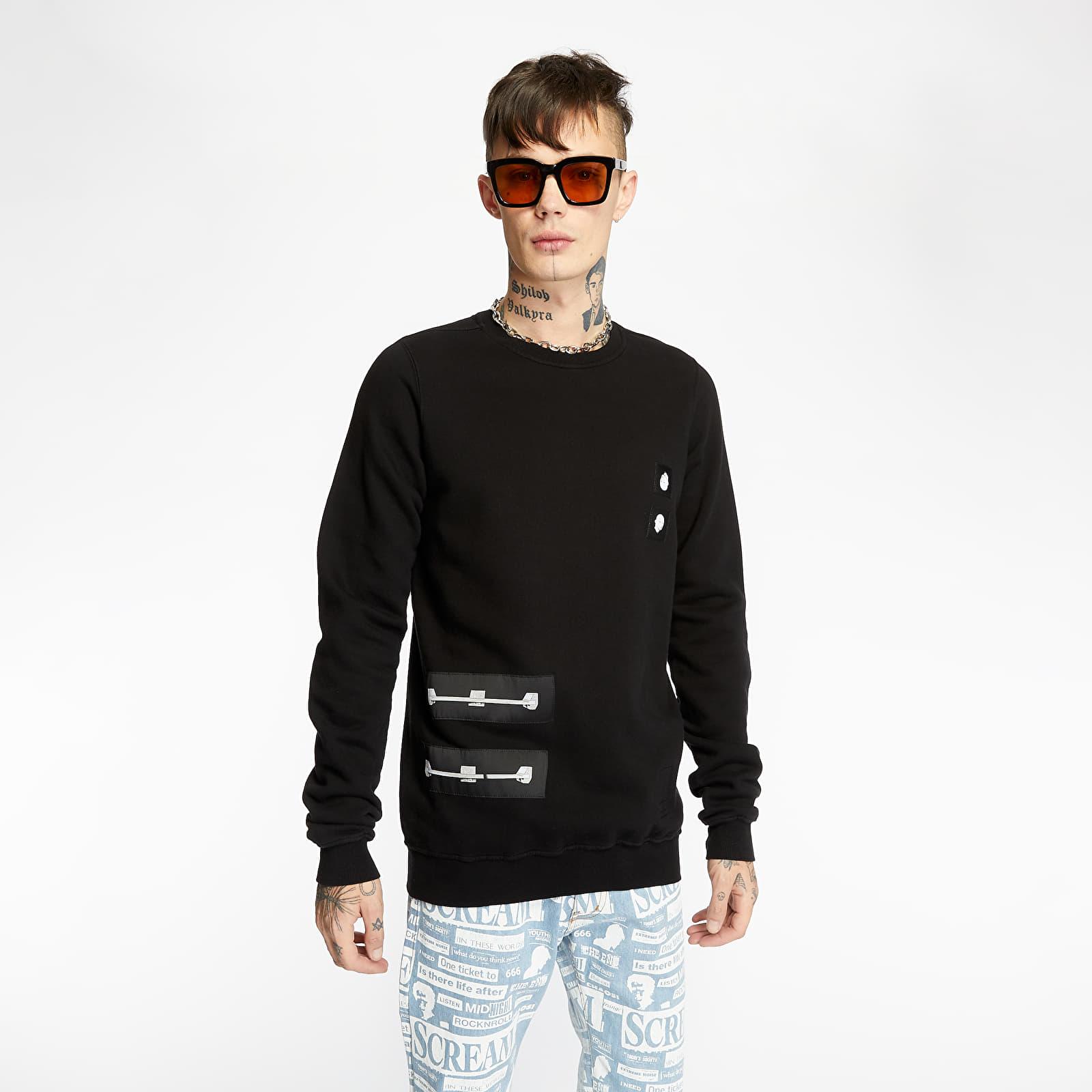 Sweatshirts Rick Owens DRKSHDW Felpa Crewneck Sweatshirt Black