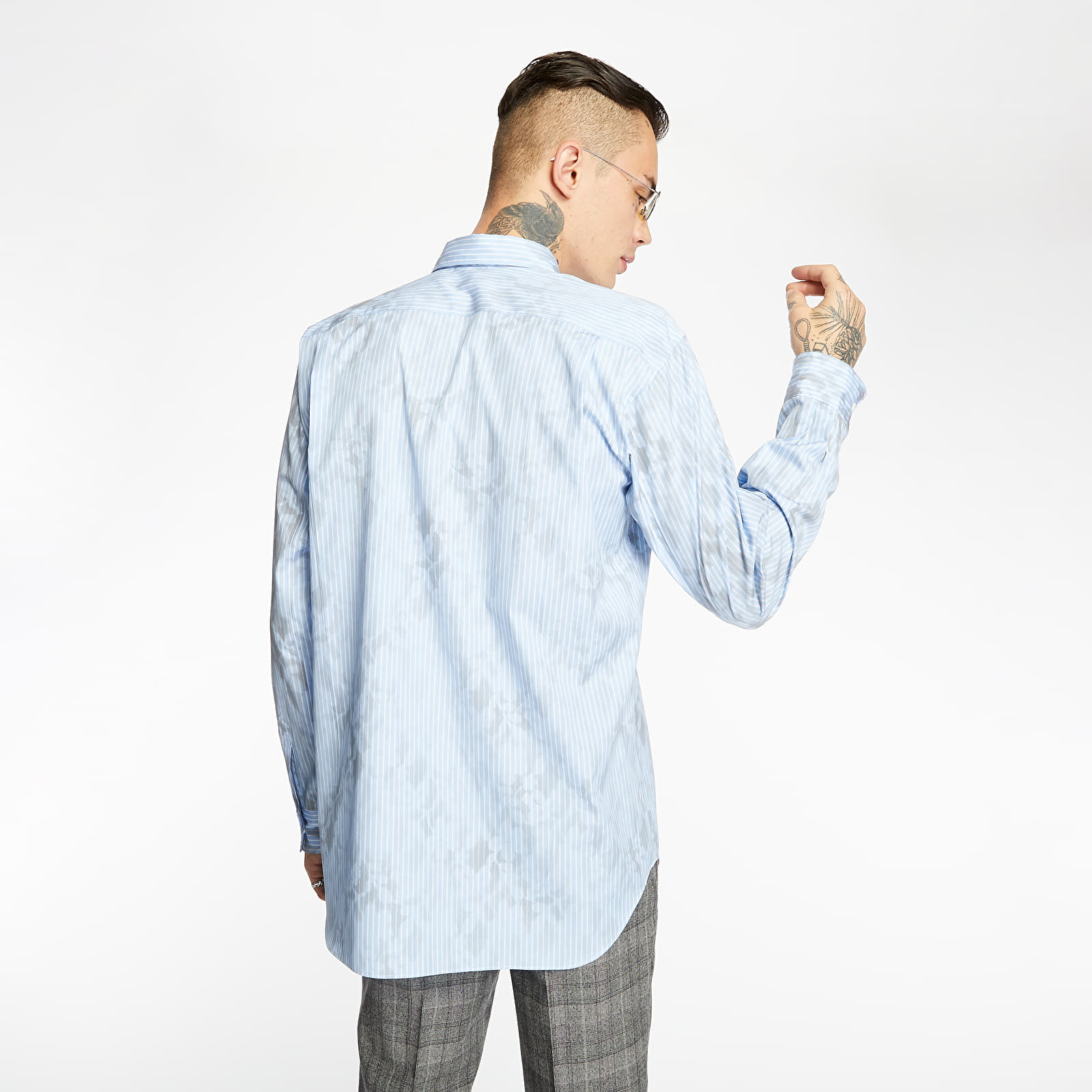 Shirts Comme des Garçons SHIRT Striped Long Sleeve Shirt Blue