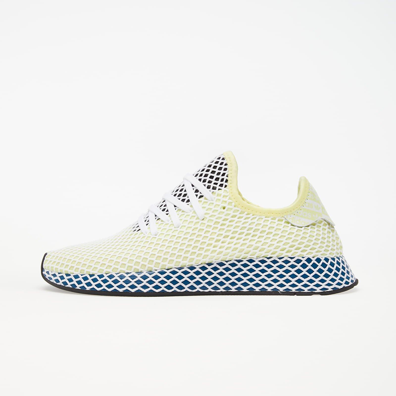 Men's shoes adidas Deerupt Runner Yellow Tint/ Ftw White/ Legend Marine