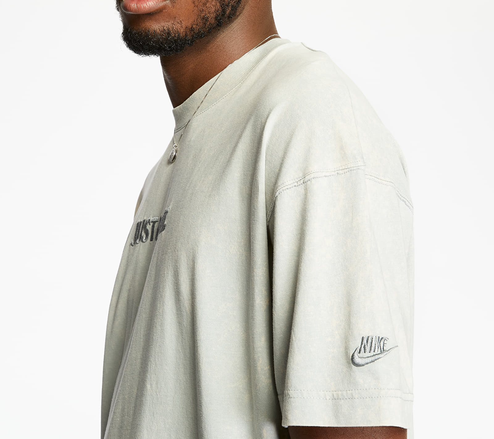 Nike Sportswear Just Do It Wash Tee Lt Smoke Grey/ Lt Smoke Grey, Gray