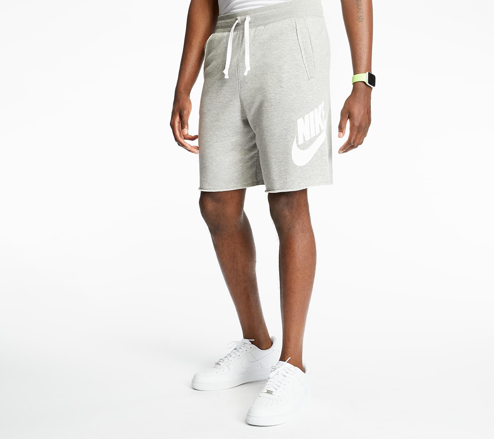 Nike Sportswear SCE Ft Alumni Shorts Dk Grey Heather/ Dk Grey Heather/ White, Gray