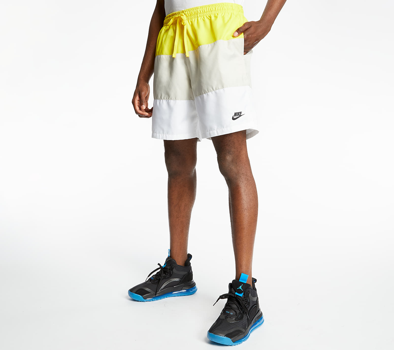 Nike Sportswear SCE Woven Nvlty Shorts Opti Yellow/ Light Bone/ White/ Black