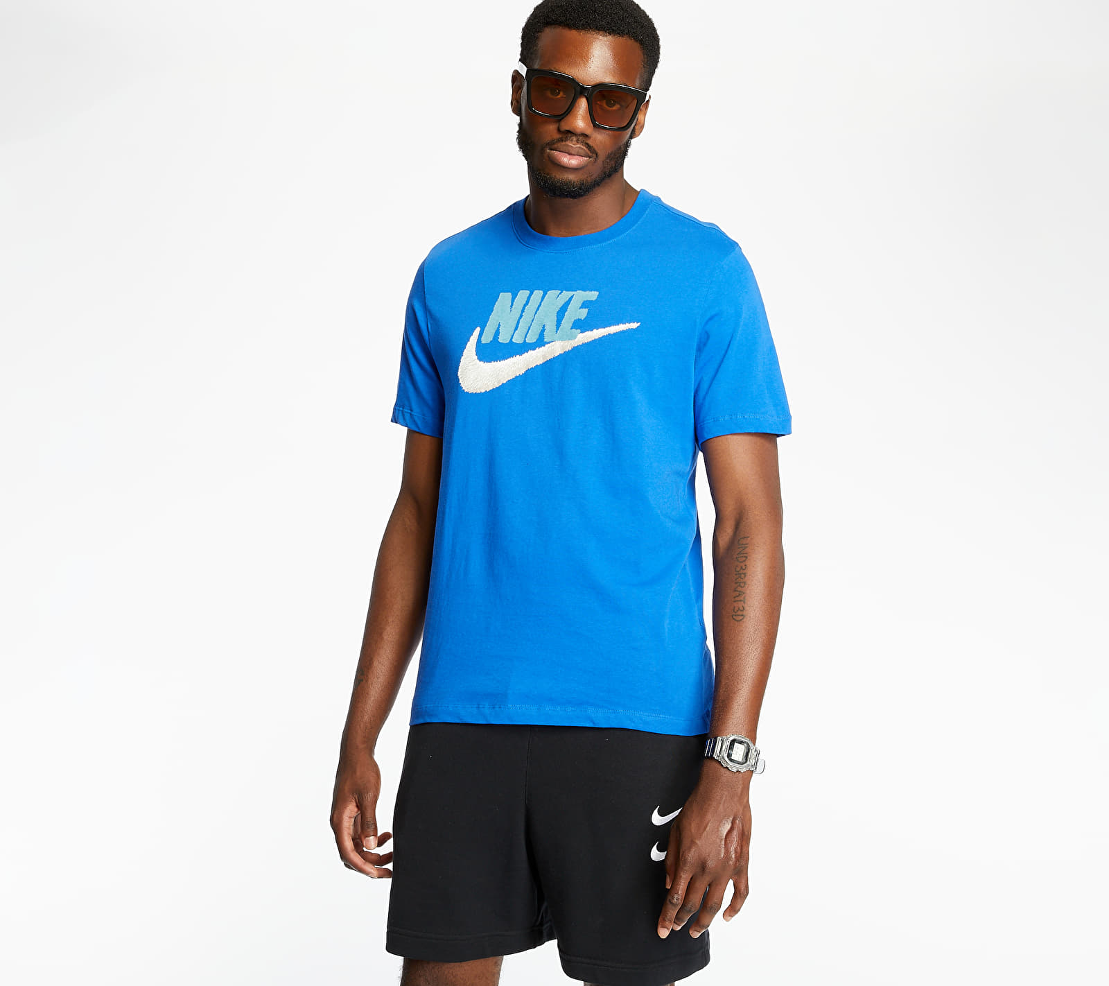 Nike Sportswear Brand Mark Tee Game Royal/ Cerulean/ Light Bone, Blue