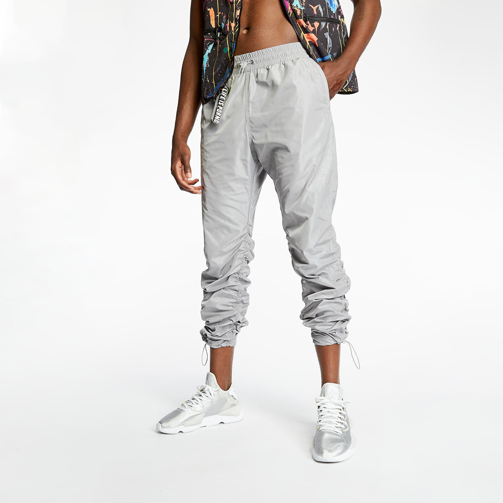 Pants and jeans LIFE IS PORNO Windbreaker Pants Grey