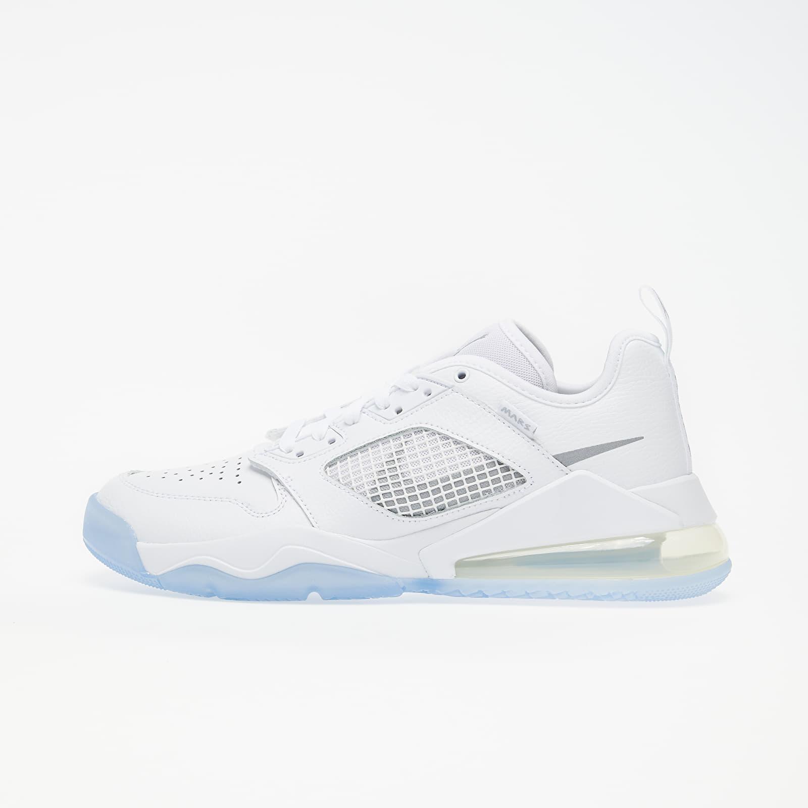 Pánske tenisky a topánky Jordan Mars 270 Low White/ Metallic Silver-White