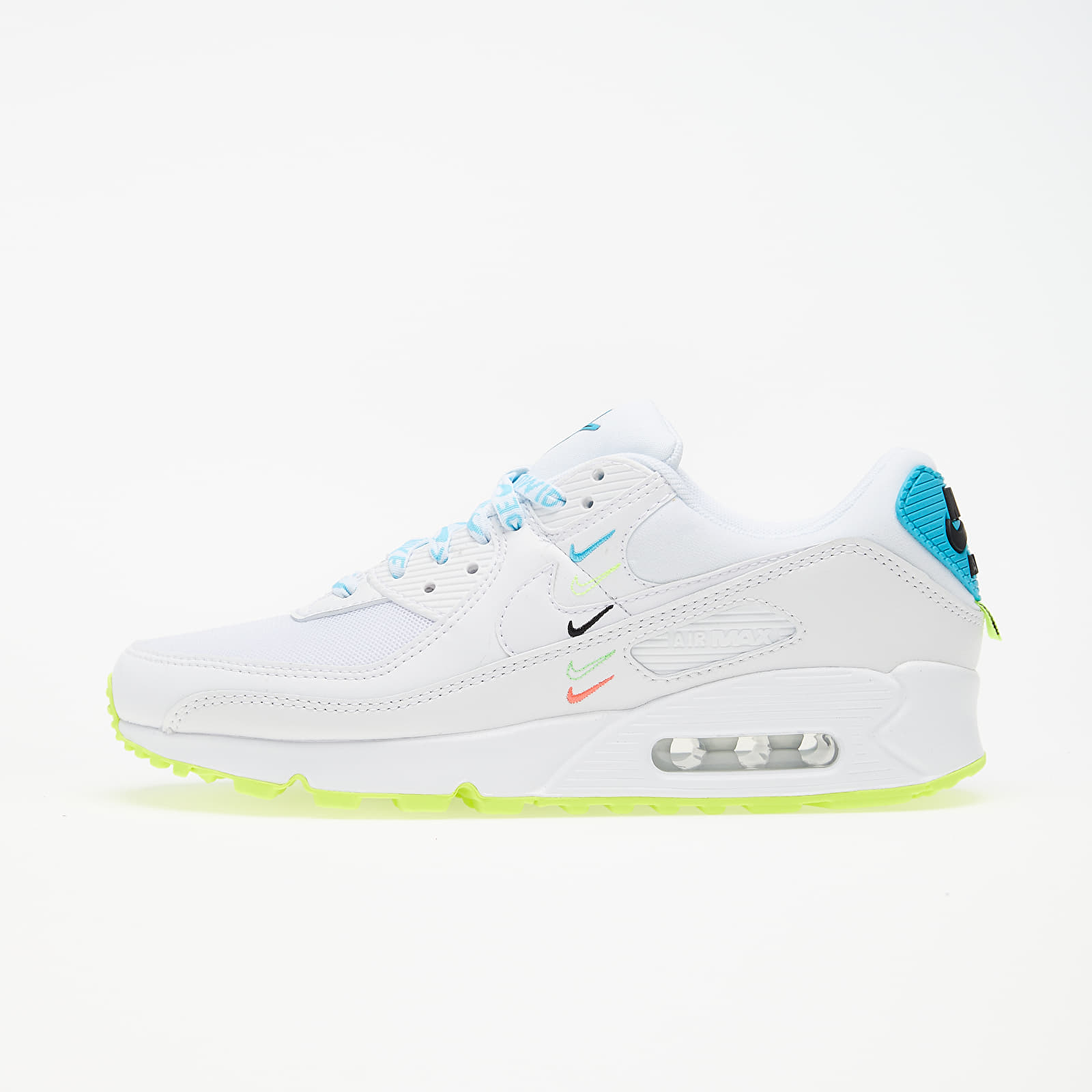 Női cipők Nike W Air Max 90 Ww White/ White-Blue Fury-Volt