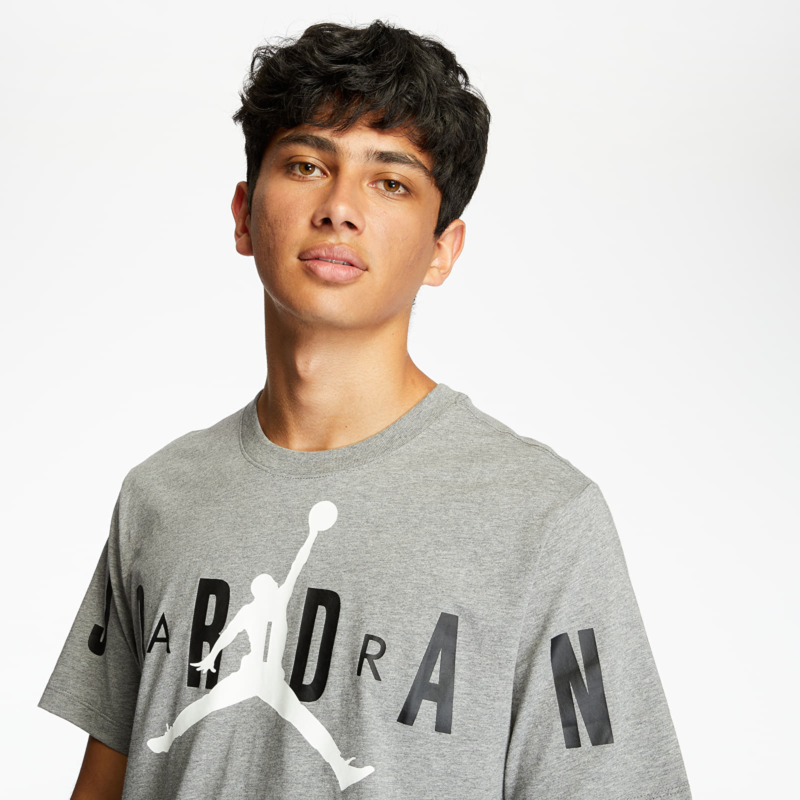 Тениски Jordan M J Brand Stretch Crew Tee Grey