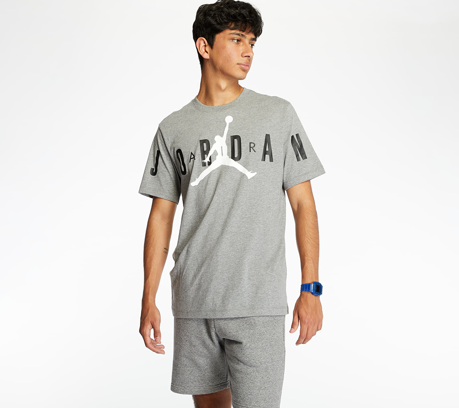 Jordan M J Brand Stretch Crew Tee Grey, Gray