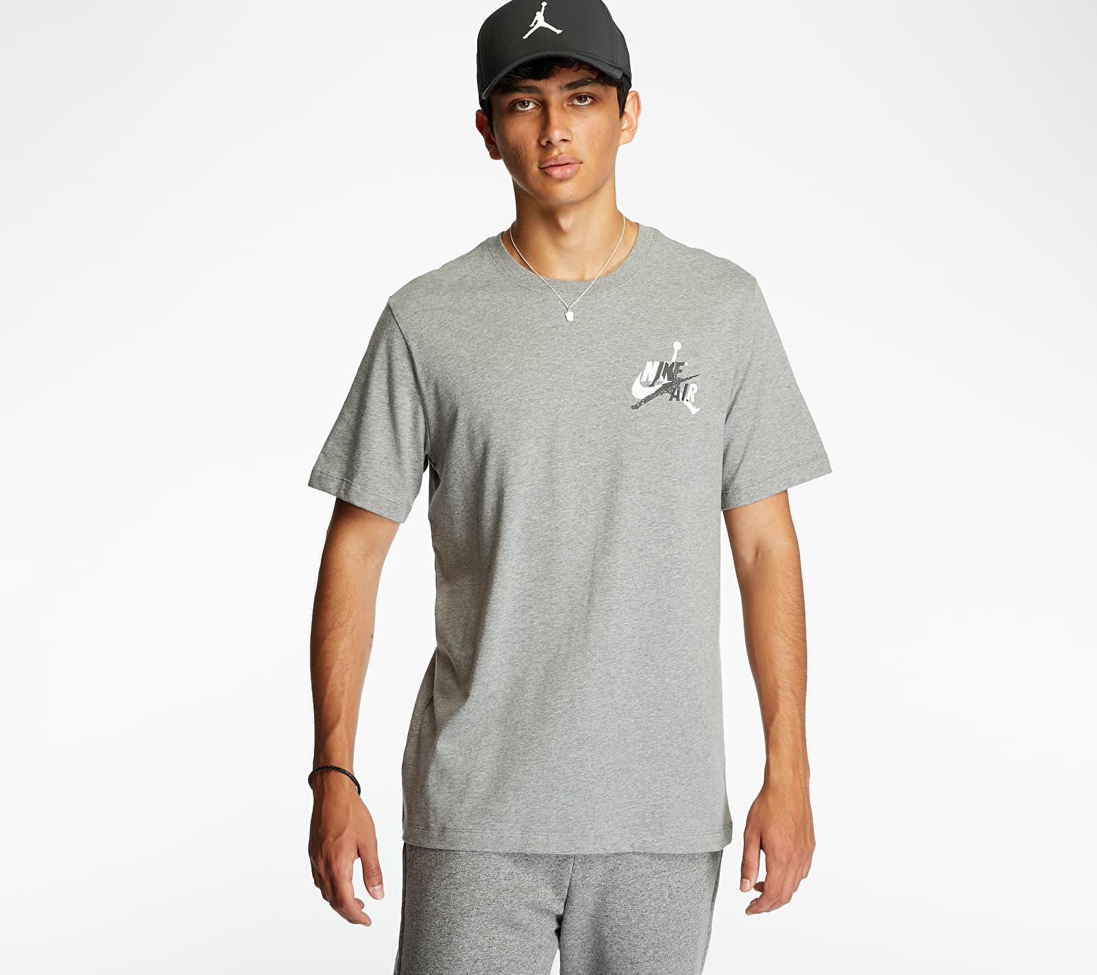 Jordan M J Jumpman Classics Graphic Tee Grey, Gray