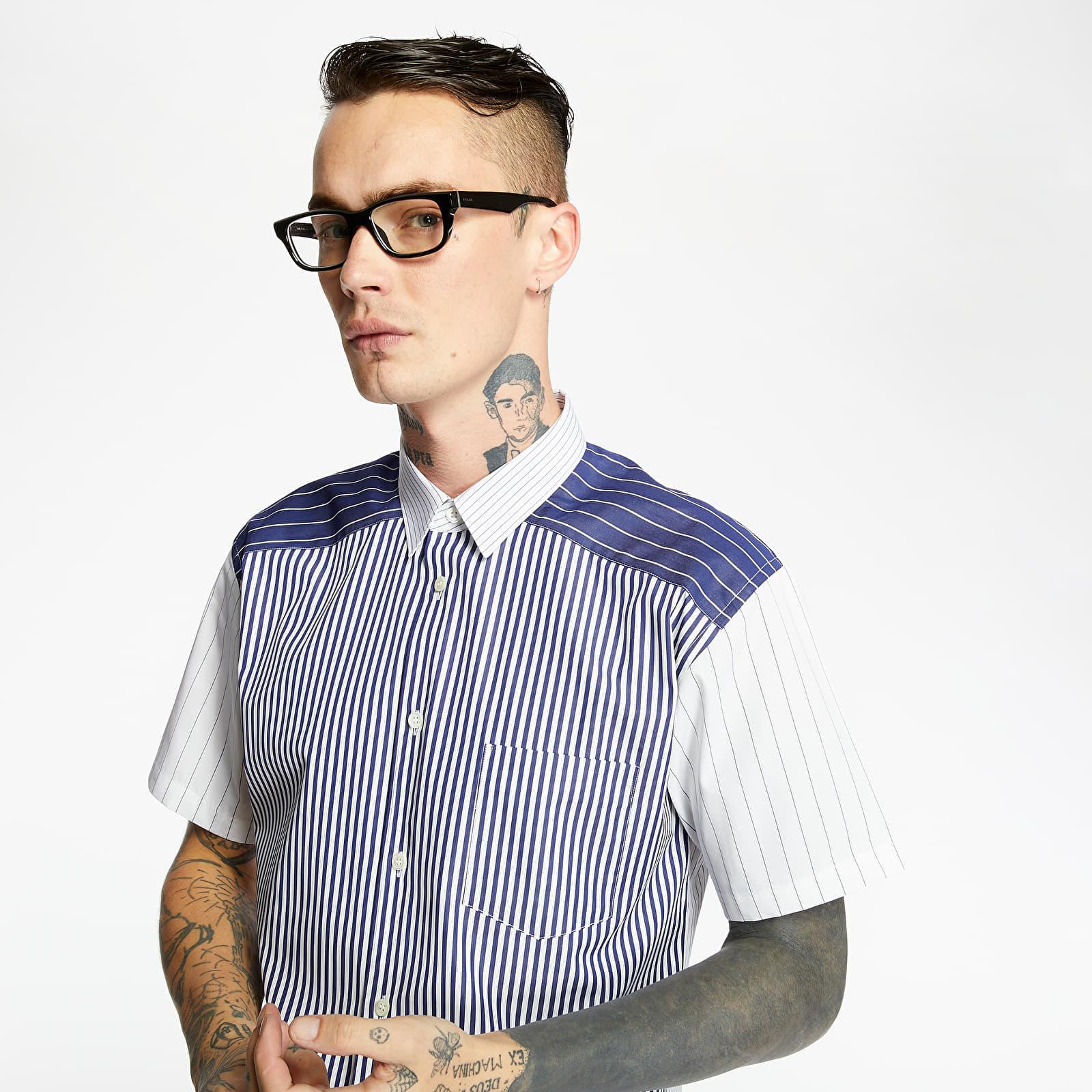 Shirts Comme des Garçons SHIRT Yarn Dyed Stripe Shirt Blue/ White