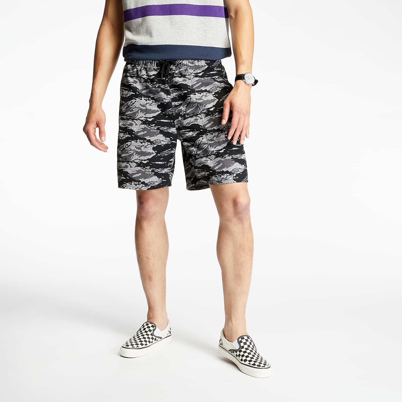 Pantaloni scurți HUF Fuck It Tiger Camo Easy Shorts Black