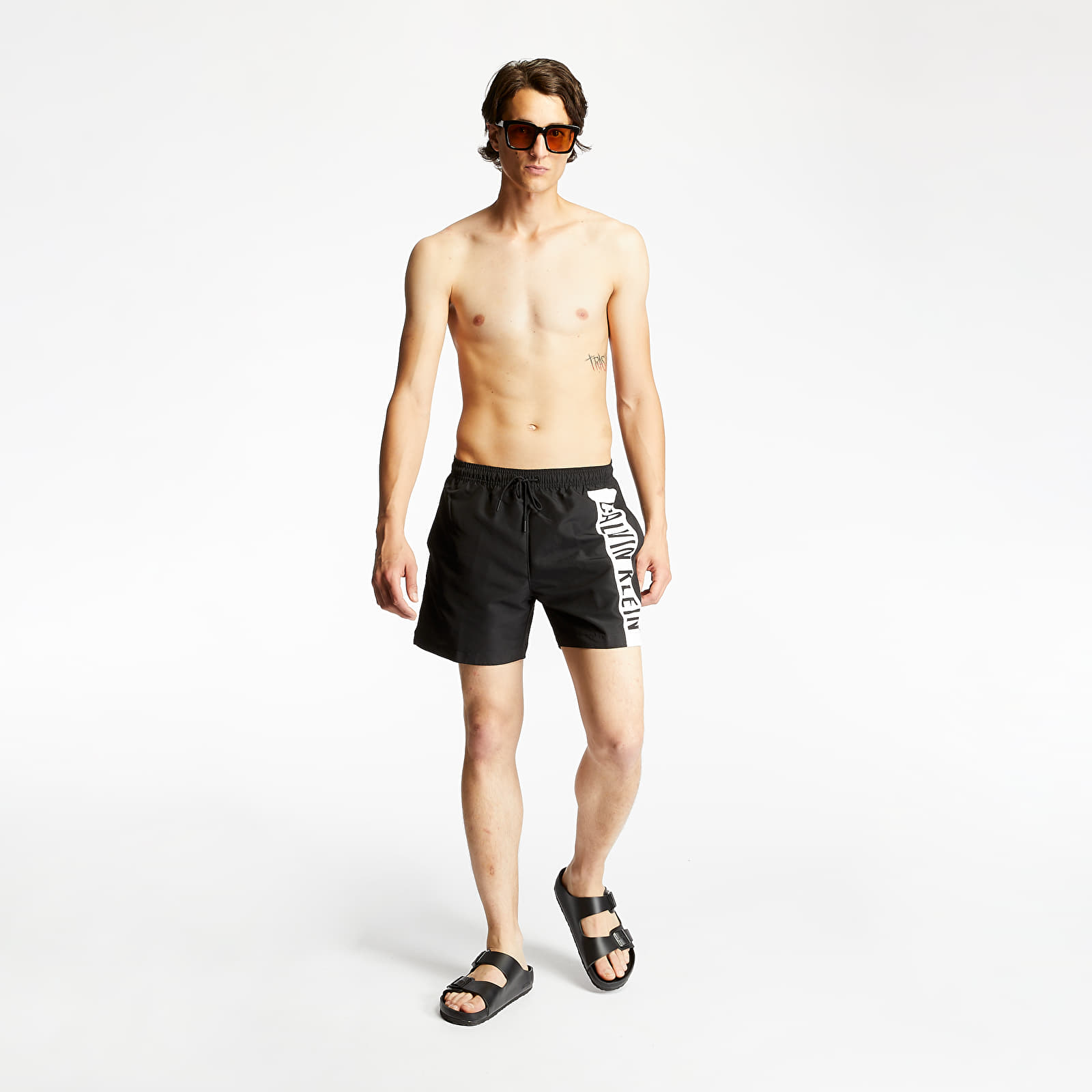 Men's Clothing Calvin Klein Medium Drawstring Swim Shorts Black