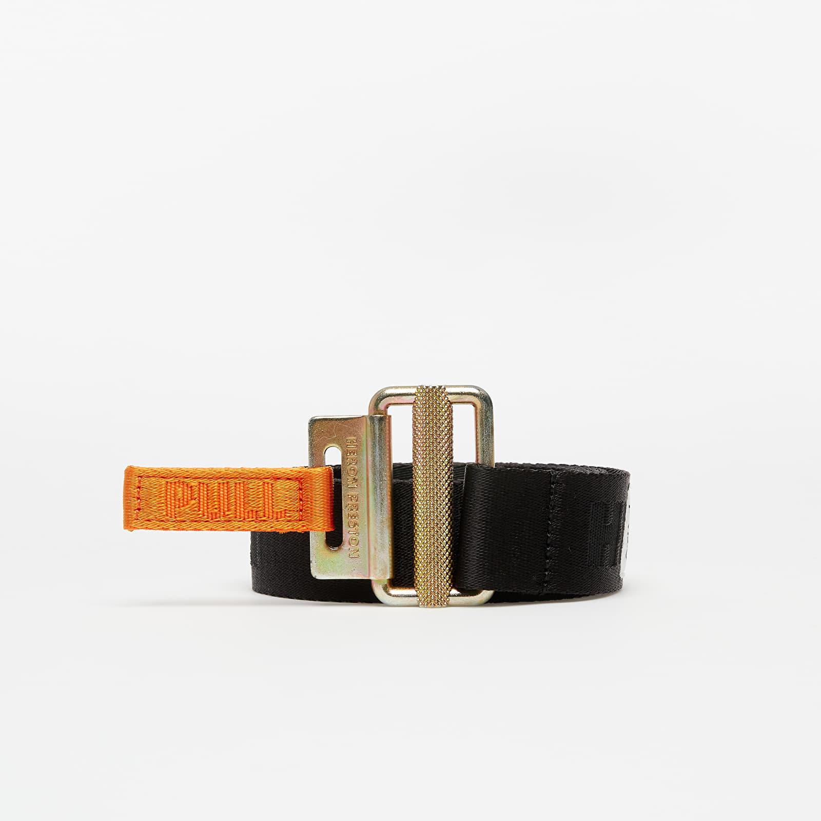 Curele HERON PRESTON Tape Mini Buckle Belt Black/ Gold