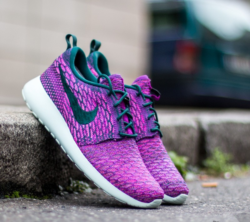 wholesale dealer 852a4 e3c66 Nike Wmns Roshe One Flyknit Dark Atomic Teal  Dark Atomic Teal-Wade Purple