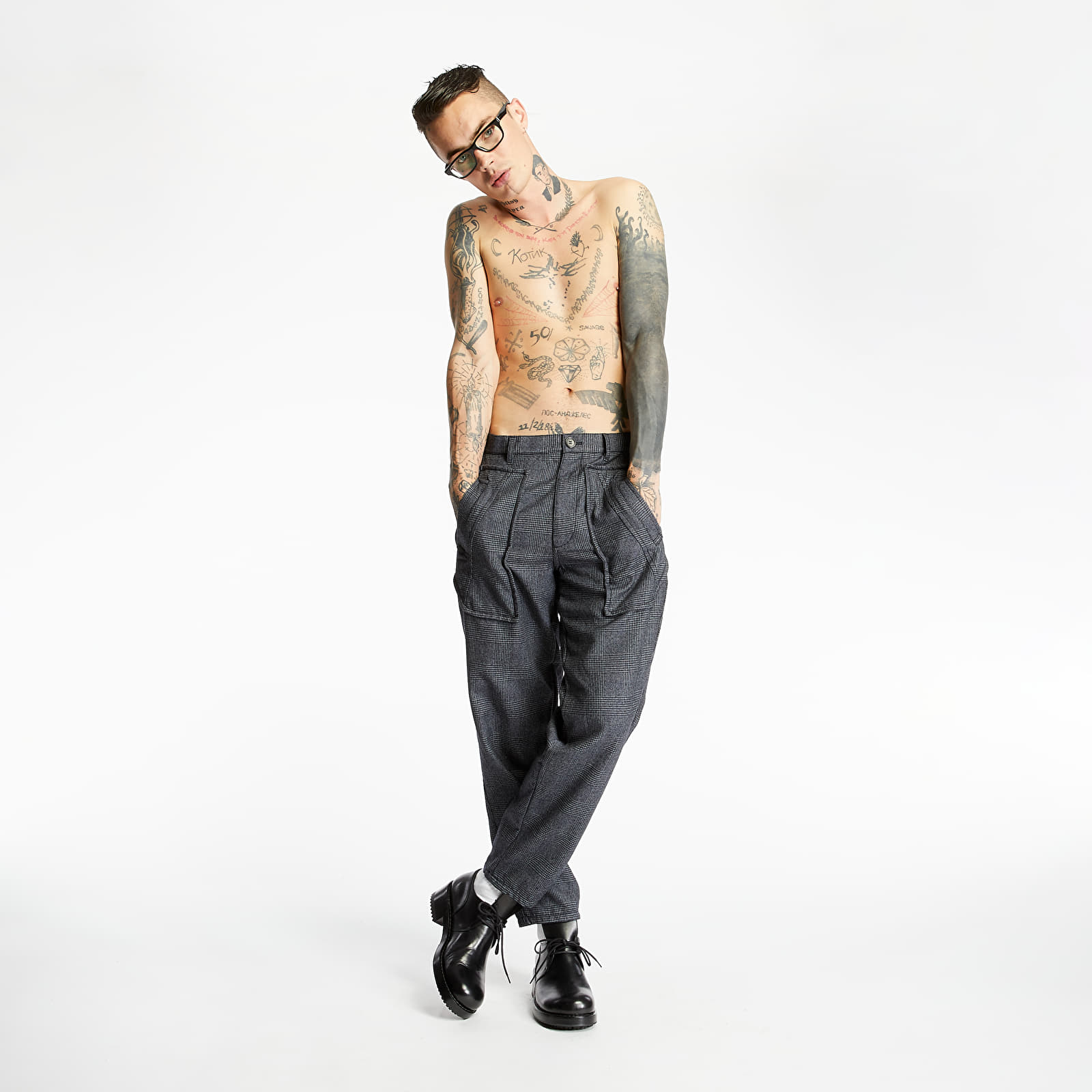 Platnene hlače Comme des Garçons SHIRT Pants Grey