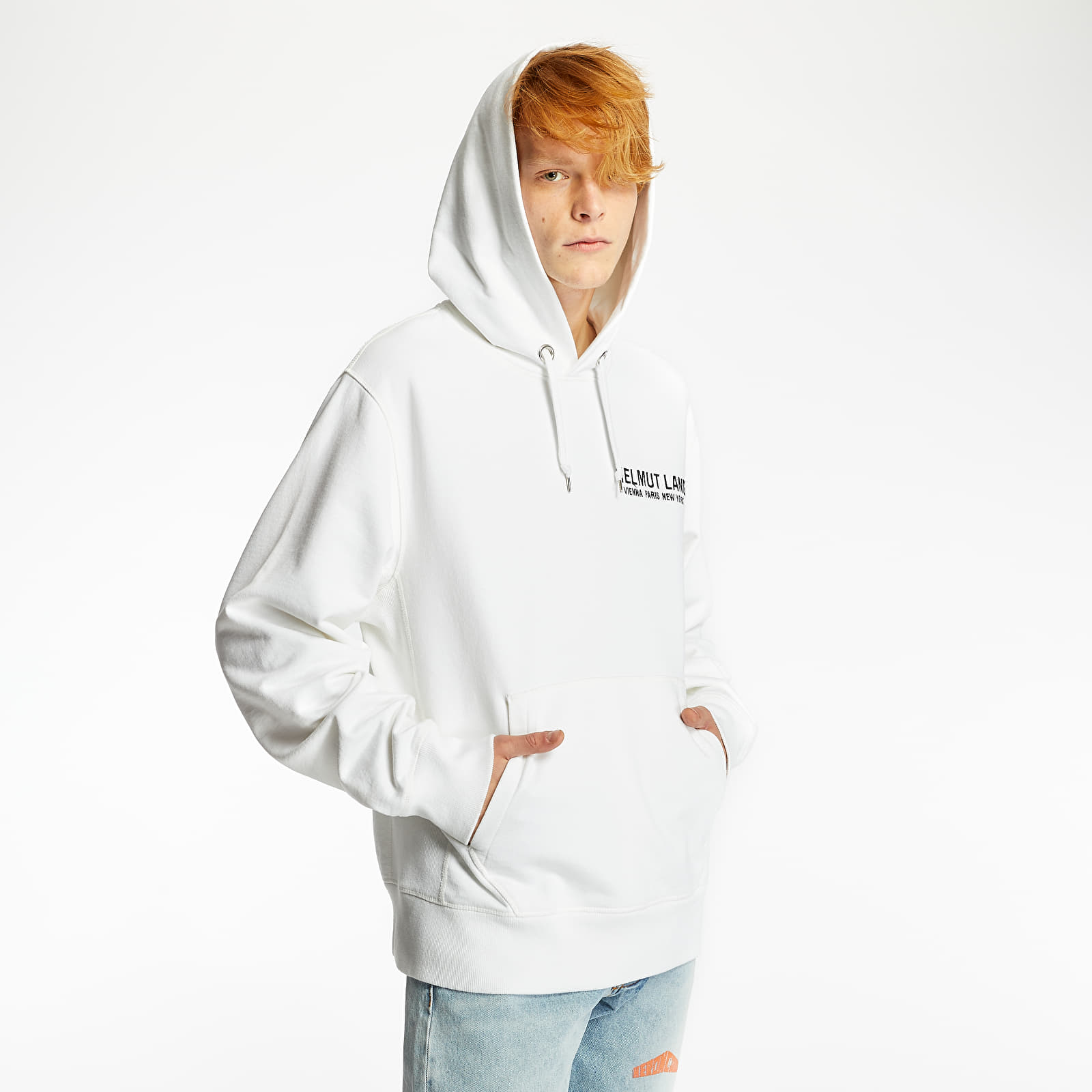 Sweatshirts HELMUT LANG Eagle Boy Hoodie Chalk White