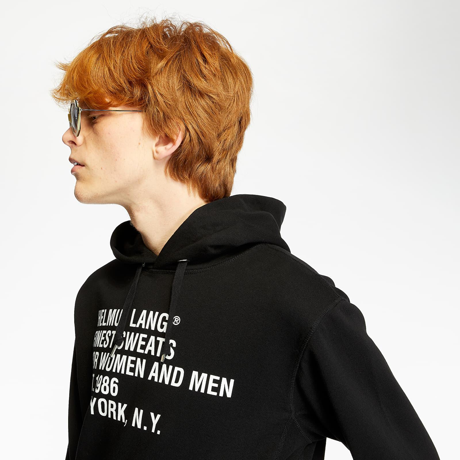Mikiny a svetry HELMUT LANG Standard Hoodie Black