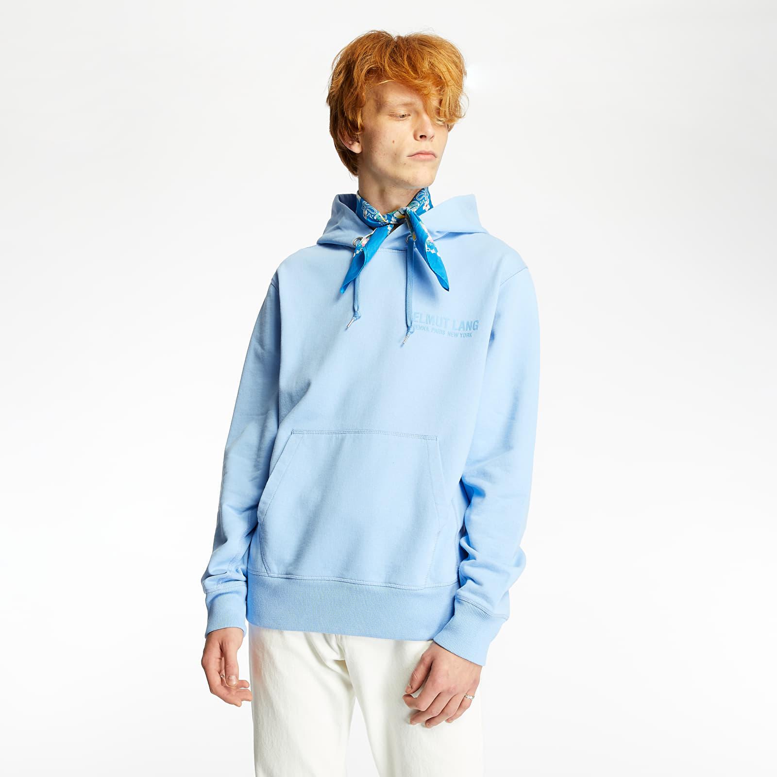 Sweatshirts HELMUT LANG Standard Hoodie Pale Sapphire