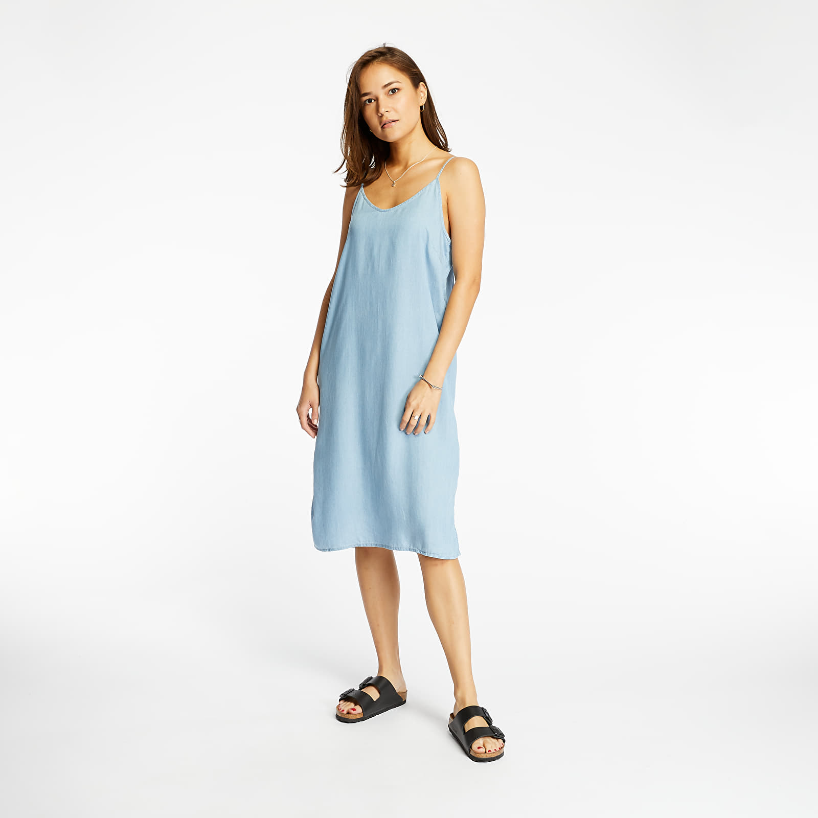Kleider SELECTED Chloe Strap Dress Light Blue