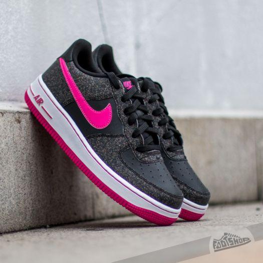 Ruina llevar a cabo Exceder  Women's shoes Nike Air Force 1 (GS) Black/ Vivid Pink-White | Footshop