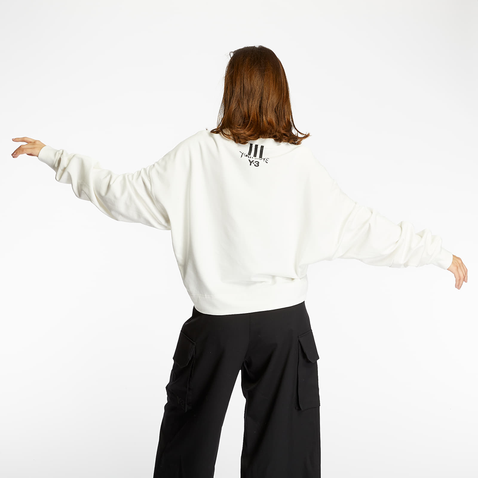 Jope in puloverji Y-3 Yohji Love Crewneck White