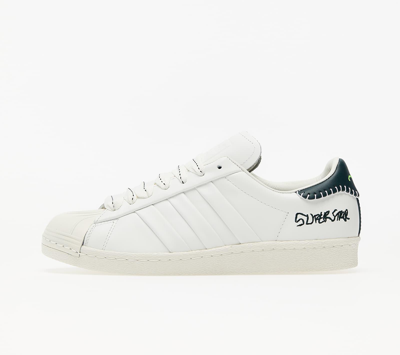 adidas x Jonah Hill Superstar Core White/ Green Night F17/ Off White EUR 39 1/3