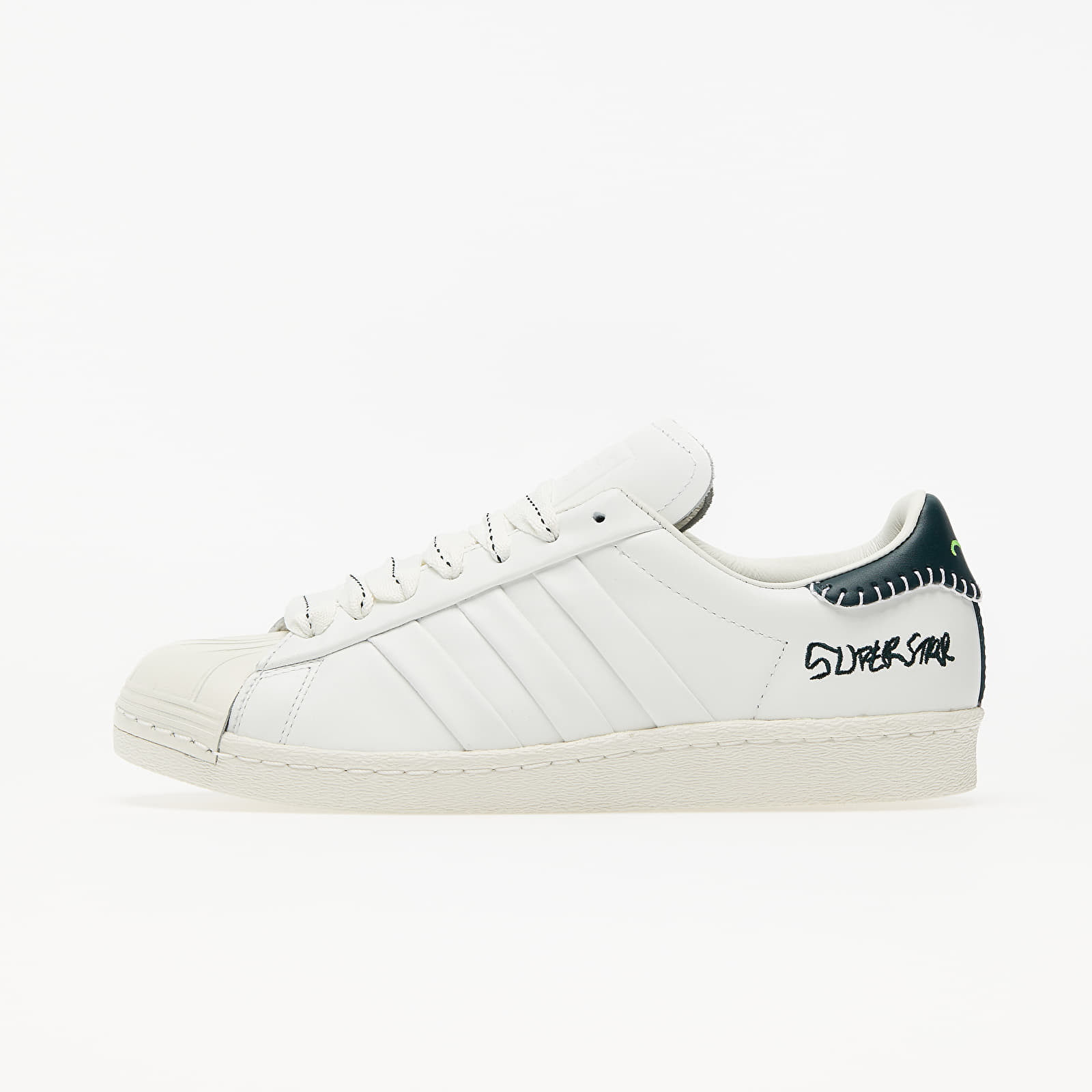 Pánske tenisky a topánky adidas x Jonah Hill Superstar Core White/ Green Night F17/ Off White