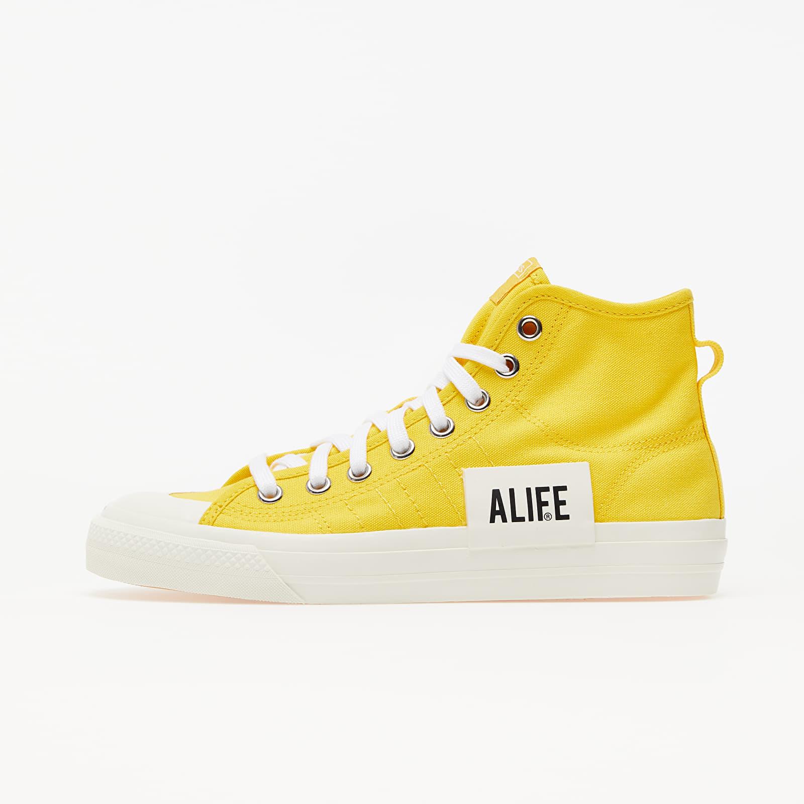 Men's shoes adidas x ALIFE Nizza Hi Wonder Glow/ Off White/ Off White