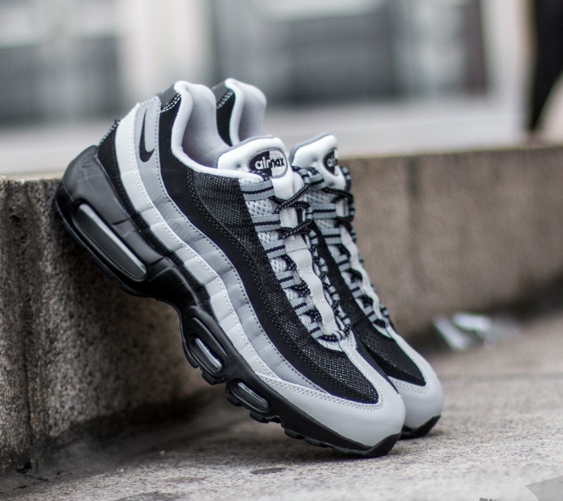 Nike Air Max 95 Essential Black Black Wolf Grey Cl Grey Footshop  Footshop