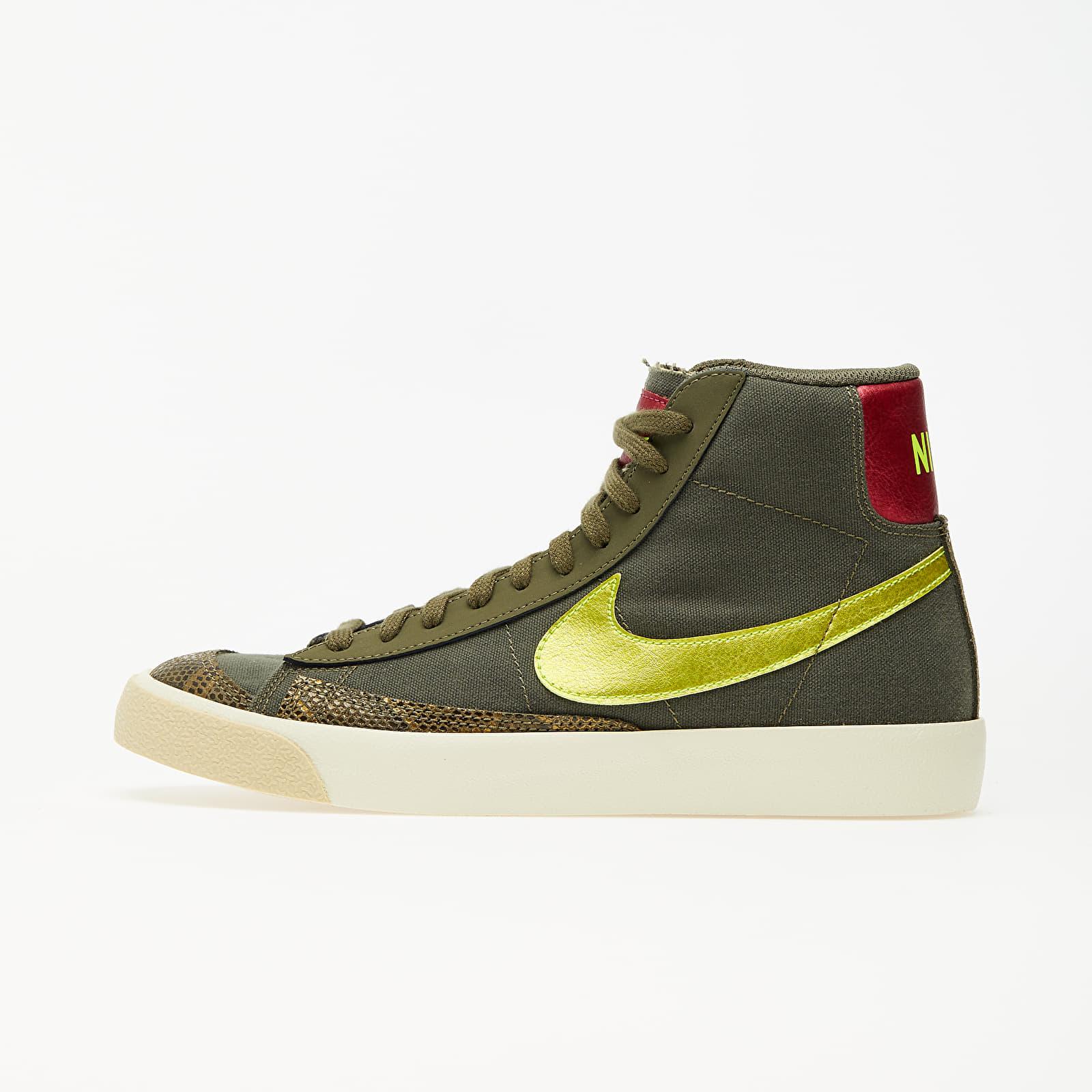 Dámské tenisky a boty Nike Wmns Blazer Mid '77 Medium Olive/ Lemon Venom-Fossil