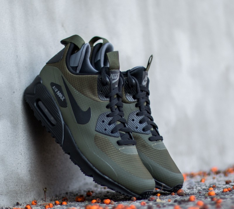 nike air max 90 mid winter dark loden black dark grey. Black Bedroom Furniture Sets. Home Design Ideas