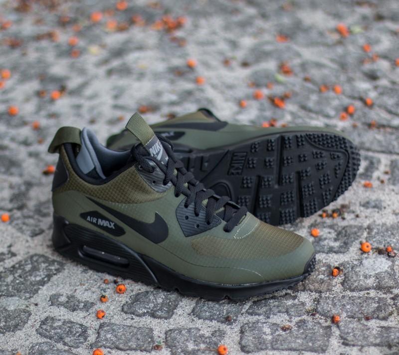 NIKE Shoes Air Max 90 Mid Wntr dark loden black : Cheap