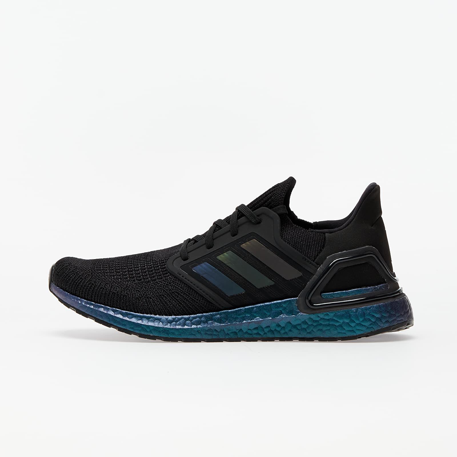 Men's shoes adidas UltraBOOST 20 Core Black/ Core Black/ Signature Cyan