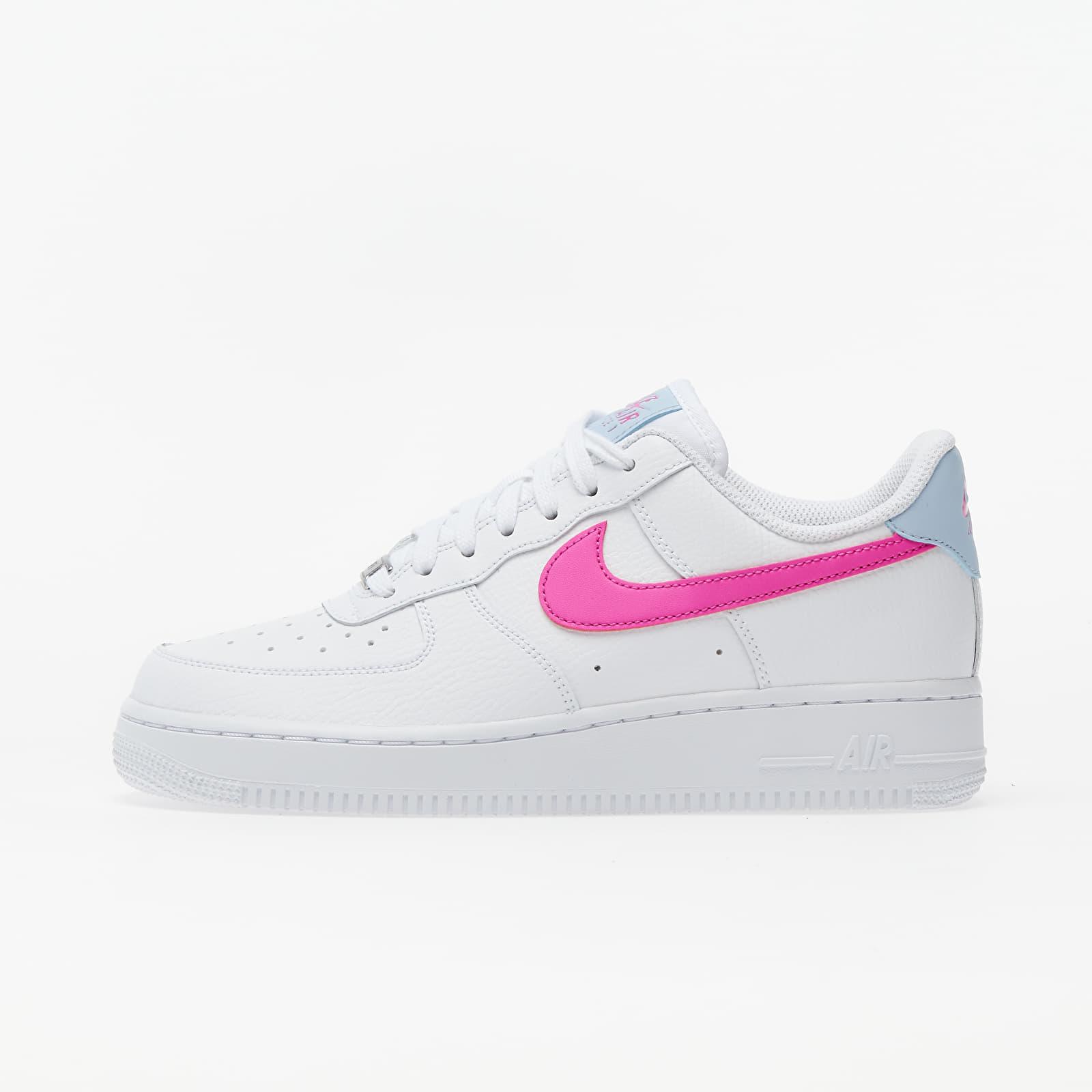 Încălțăminte și sneakerși pentru femei Nike Wmns Air Force 1 '07 White/ Fire Pink-Hydrogen Blue