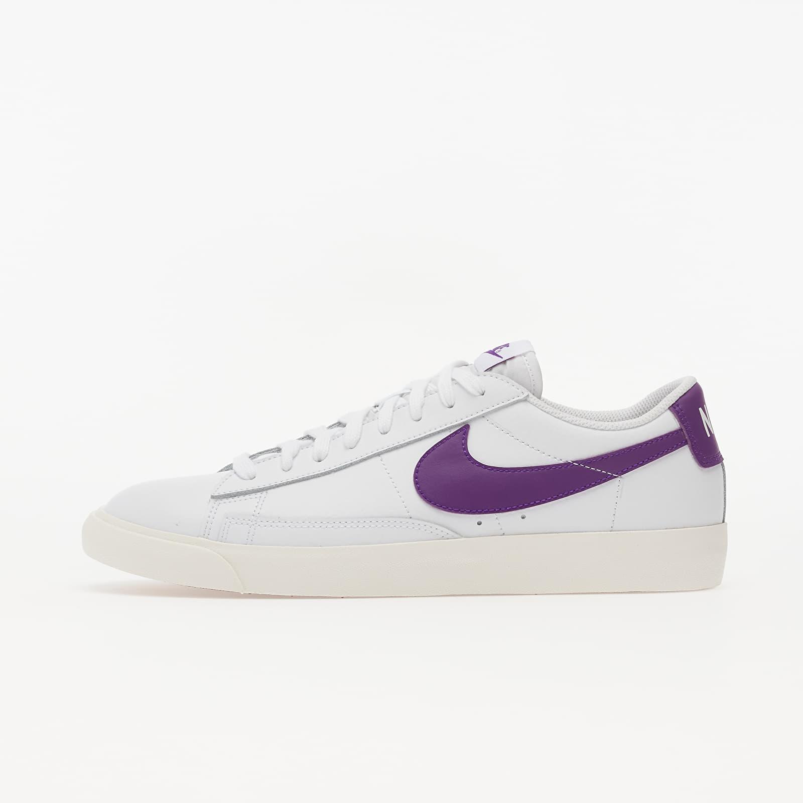 Men's shoes Nike Blazer Low Leather White/ Voltage Purple-Sail