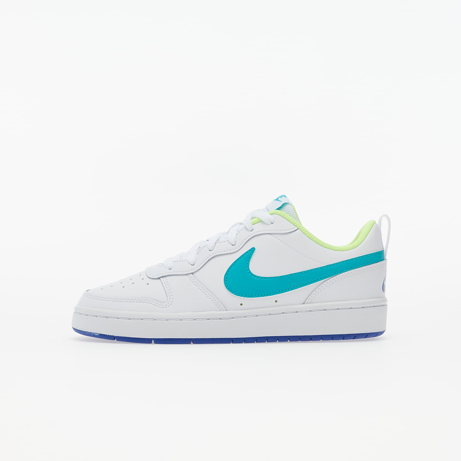 Gyerek Nike Court Borough Low 2 (GS) White/ Oracle Aqua-Hyper Blue-Ghost Green